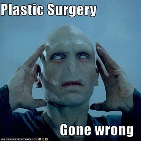 Plastic Surgery Meme - plastic surgery faces are weird on superman voldemort more smosh