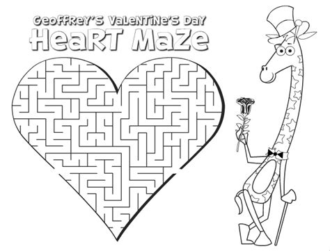 printable heart maze printable valentine s day activity sheets for kids