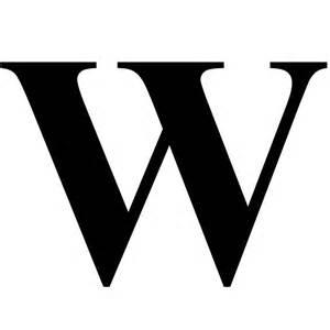 Monogram Letters Home Decor quot the letter w in black times new roman serif font typeface