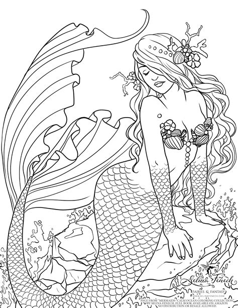 mermaid coloring book enchanted designs mermaid free mermaid