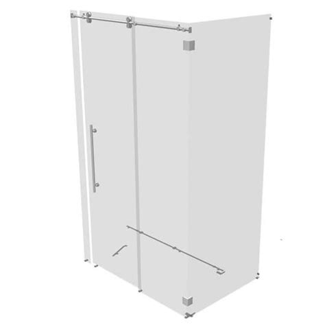 Rolling Shower Door by Kinetik Two Sided Rolling Shower Door 3d Model Formfonts