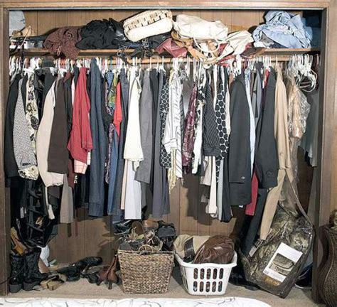 Cluttered Closet by Organization Begins In Your Cluttered Closet
