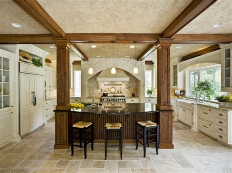 kitchen islands with columns pictures of kitchens with columns