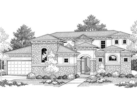 Santa Fe Style House Plans by Cervantes Santa Fe Style Home Plan 051d 0350 House Plans