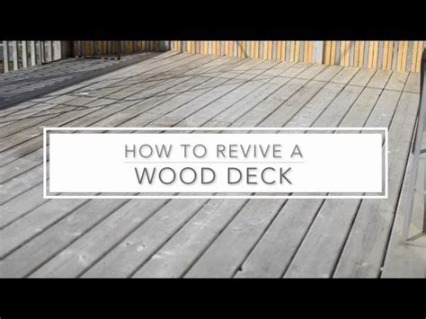 revive  wood deck  benjamin moore youtube