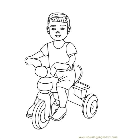tricycle coloring pages preschool bike coloring page getcoloringpages com