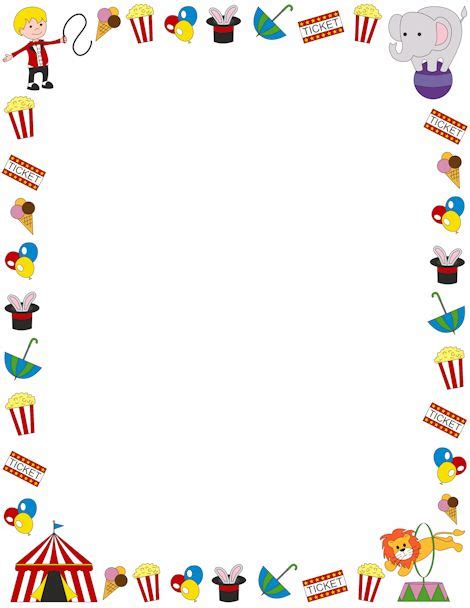 Carnival Borders Clipart by A Page Border With A Circus Theme Free Downloads At Http