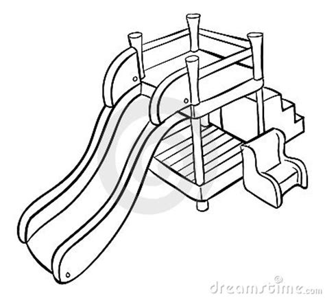 Playground Slide Coloring Pages Playground Template