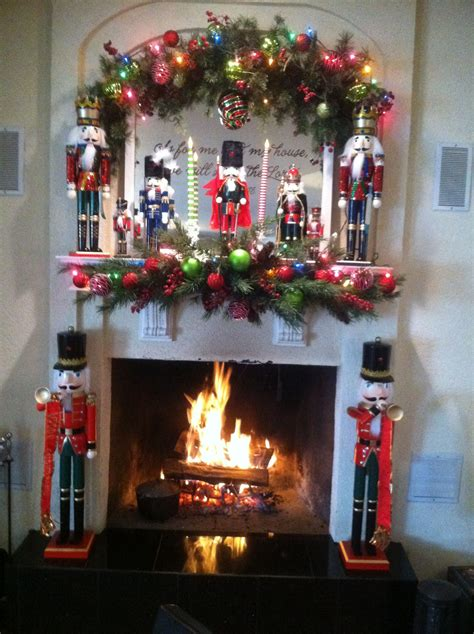 how to decorate a mantle with nutcrackers my nutcracker fireplace mantle things fireplace mantles mantle and