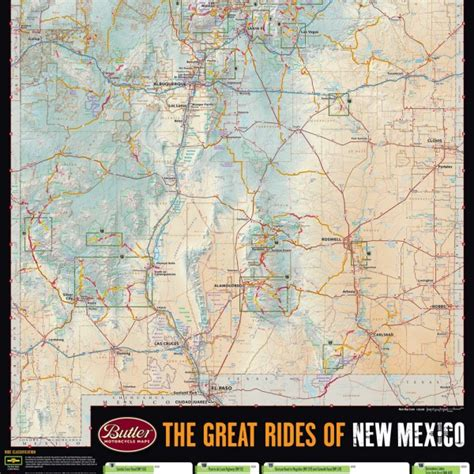 road map of arizona and new mexico butler motorcycle maps