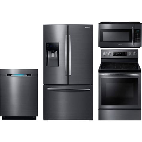 kitchen package deals on appliances samsung 4 piece kitchen package with ne59j7630sg electric range rf263beaesg refrigerator