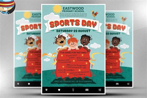 sports c flyer template kid s sports day flyer template flyer templates creative market