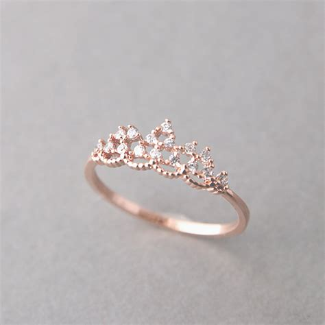 princess tiara ring gold engagement tiara ring