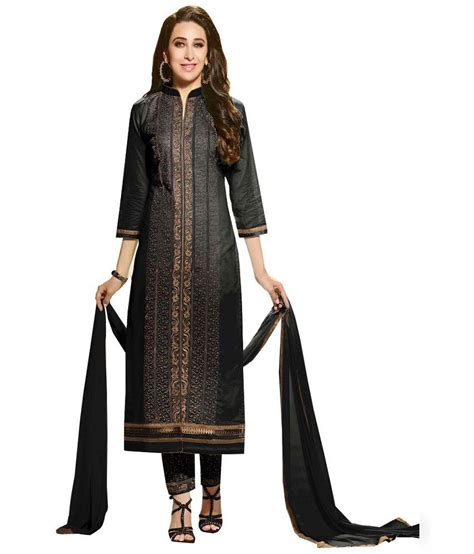 uttam vastra dress materials uttam vastra black cotton straight unstitched dress