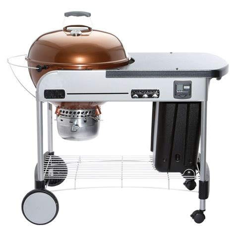 home design kettle grill weber 22 in performer premium charcoal grill in copper
