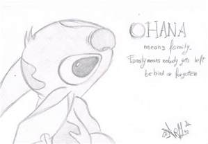 Drawings Of Stitch Ohana By Rhain1992arm sketch template