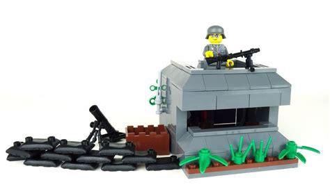 Mainan Bricks Army Ww Ii Set By Doll german bunker world war 2 army builder complete set made w real lego 174 bricks ebay