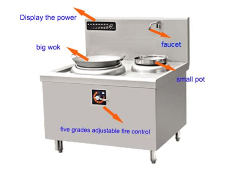 large wok for induction hob 15kw power single woks commercial hotel restaurant large stainless steel electric wok