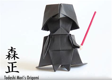 How To Make A Origami Darth Vader Finger Puppet - best 20 origami darth vader ideas on