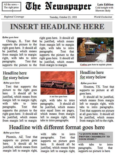 front page newspaper template premium news packagebuild a newspaper build a newspaper
