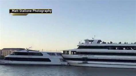 dinner on a boat hoboken nj yacht hosting high school prom crashes into boat in nj