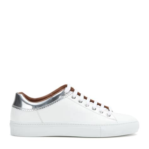 s givenchy sneakers lyst givenchy low leather sneakers in white