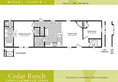 2 bedroom 1 bath mobile home floor plans cavco homes floor plans lovely cavco homes floor plan