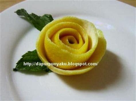 Pisau Garnish cara membuat garnish bentuk bunga mawar warna kuning