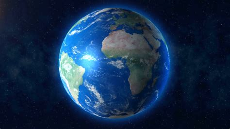 wallpaper earth rotation blue planet earth rotation with space background 4k