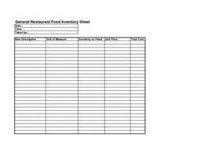 food costing sheet template 9 best images of food cost worksheet restaurant