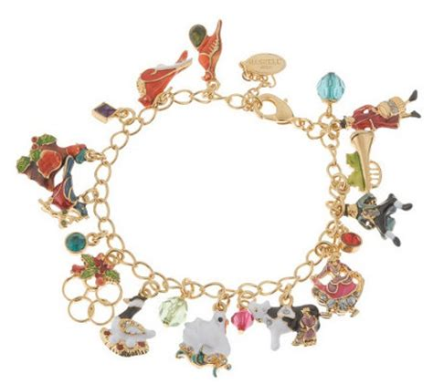 Haskell Twelve Days of Christmas Charm Bracelet ? QVC.com