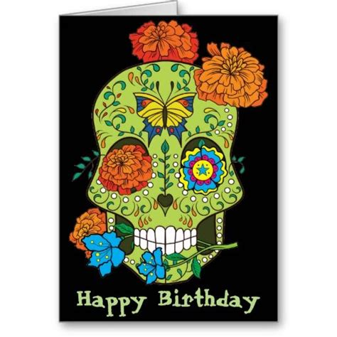 happy birthday tattoo artist happy birthday sugar skull in card
