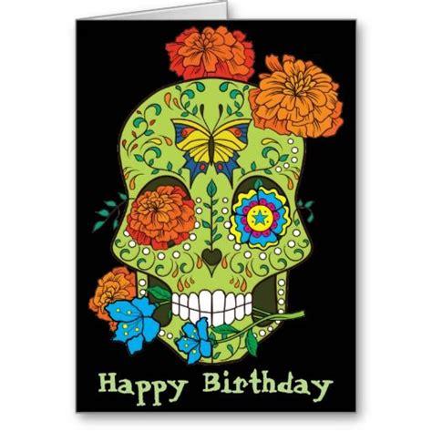 happy birthday tattoo artist happy birthday sugar skull in card