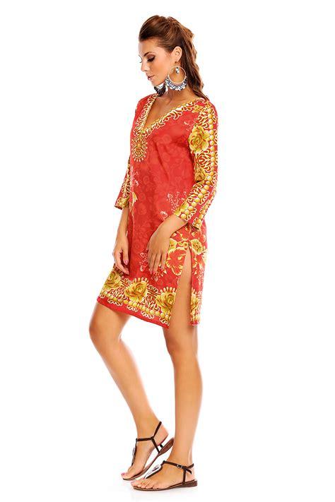 Boho Tribal Tunic Dress boho festival tribal tunic top dress in