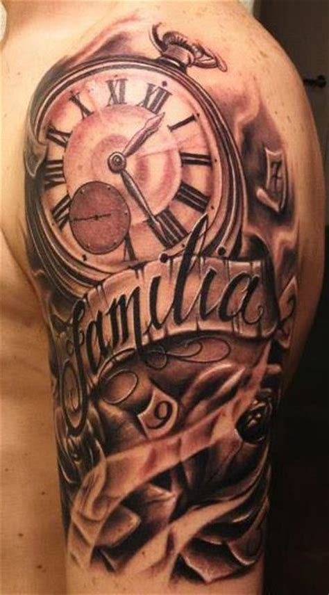 open rose tattoos open wings owl clock and tattoos on chest