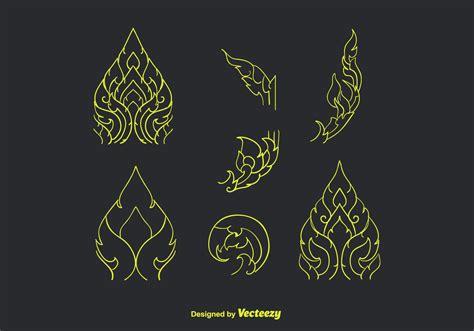 vector pattern hand drawn hand drawn thai pattern vector download free vector art