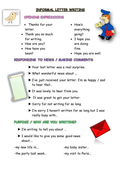 Letter Informal how to write a letter informal and formal esl buzz