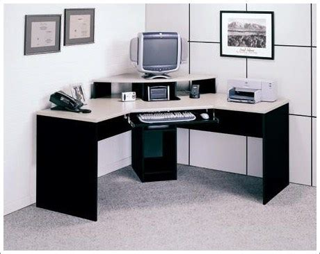 contemporary elements corner desk finished in black and
