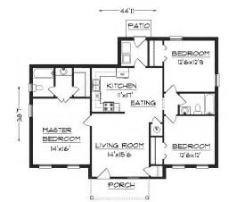 Floor Plans For A Small House J1301 House Plans By Plansource Inc