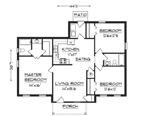 house plans floor plans j1301 house plans by plansource inc