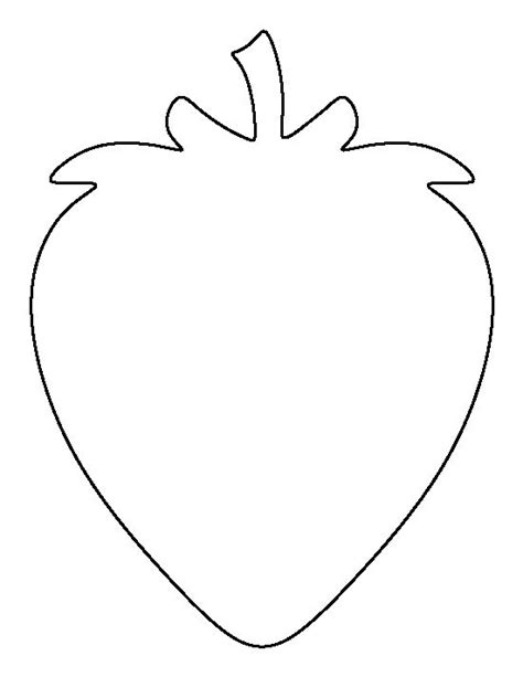 printable banana shapes strawberry pattern use the printable outline for crafts