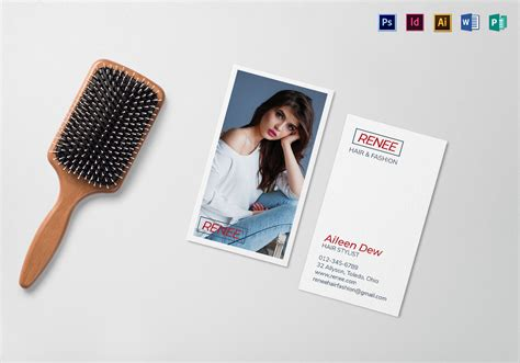 Fashion Business Cards Templates For Photoshop by Hair And Fashion Business Card Template In Psd Word