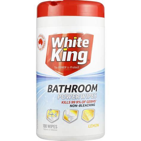 bathroom cleaning wipes white king power clean bathroom cleaner wipes lemon 100pk