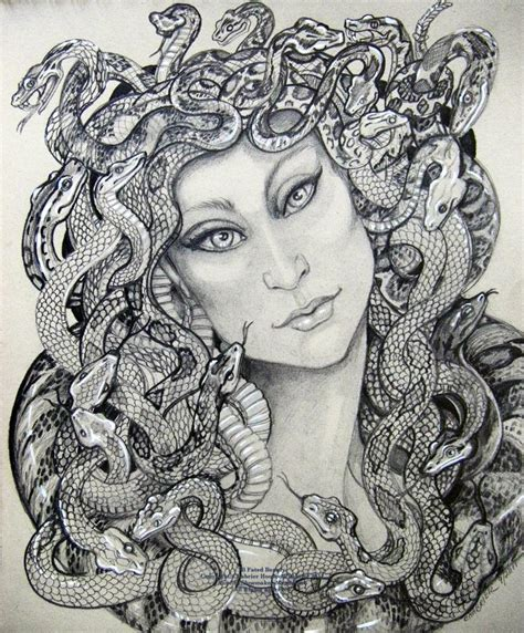 pix for gt beautiful medusa drawing medusa pinterest