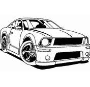 Ford Mustang Street Car Coloring Pages Free Cars 14752