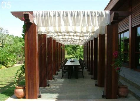 pergola with fabric shaded to perfection pergola designs for the