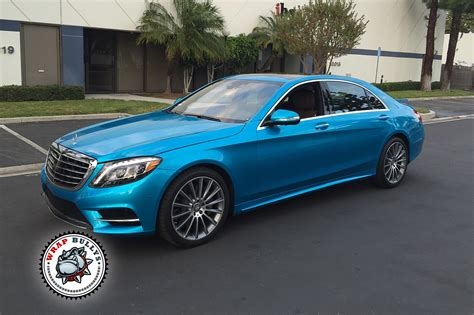 wrapped cars mercedes s550 wrapped in 3m gloss atlantis blue car