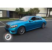Mercedes Benz S550 Wrapped In 3M Gloss Atlantis Blue Car