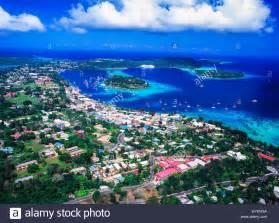 aerial view port vila the capital of vanuatu efate