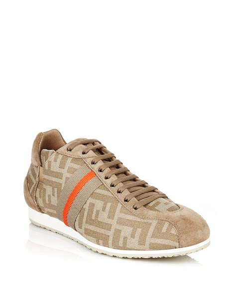 fendi sneakers on sale fendi s beige monogram trainers designer footwear